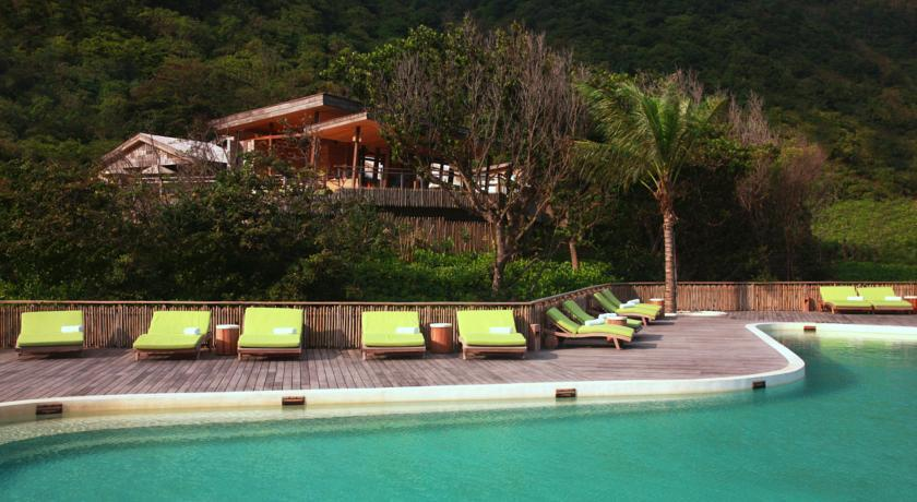 Six senses resort Con Dao island outdoor swimming pool vietnam trip ideas tips luxurious