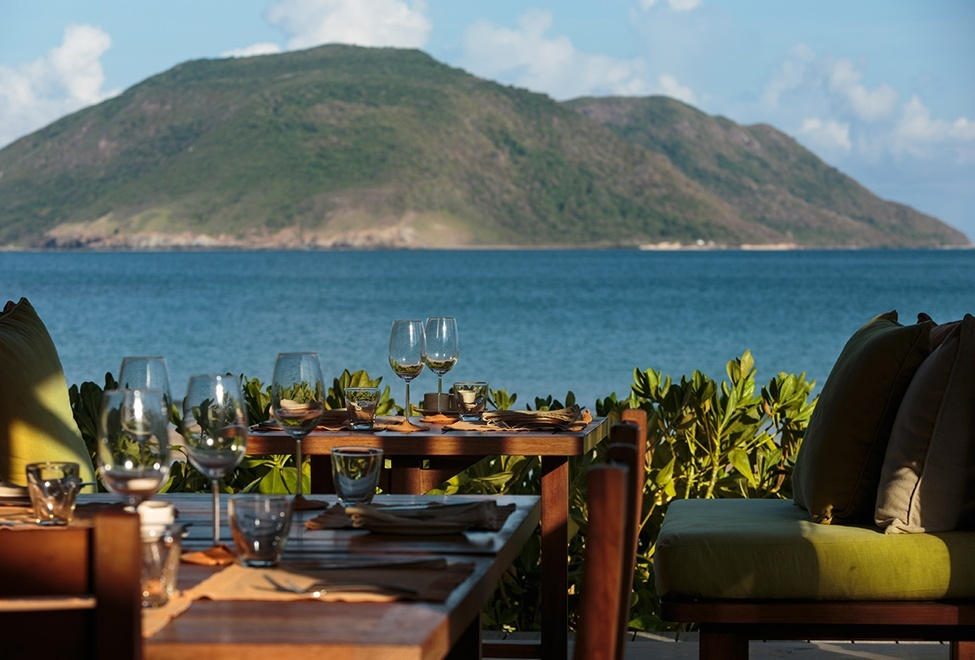 Six senses resort Con Dao island vietnam trip ideas tips outdoor eating wood villa luxurious