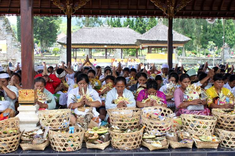 Spiritual and religious devotion plays a key role in Balinese life.