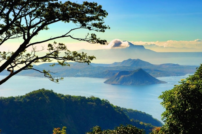 Taal Volcano in the middle of Taal Lake