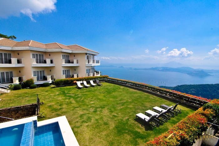The hotels all have wonderful view of Tagaytay.