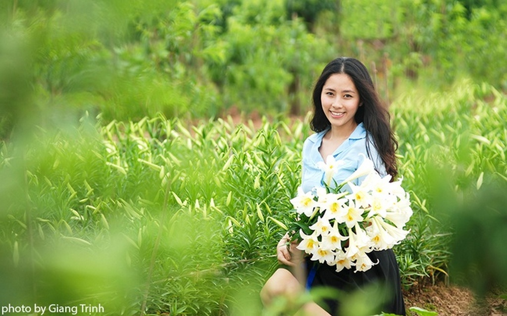 Thien Huong and the lilies garden_Hanoi Spring Photo_Photo by Giang Trinh
