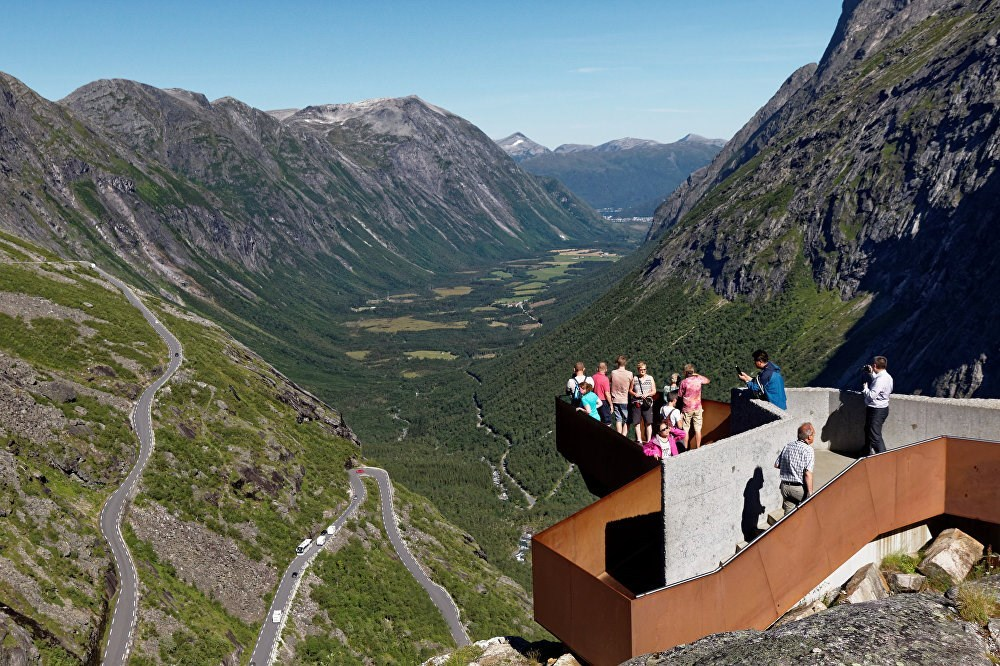 This is Trollstigen Visitor Terrace where attracted visitors at Norway.