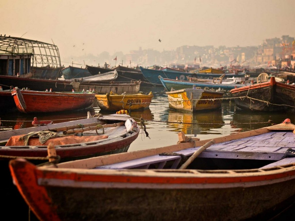 Varanasi is a sacred city along the Ganges River