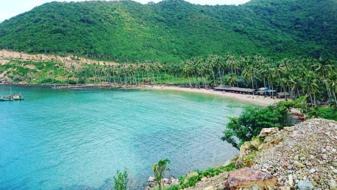 A tranquil and wildly bue beach of Nam Du