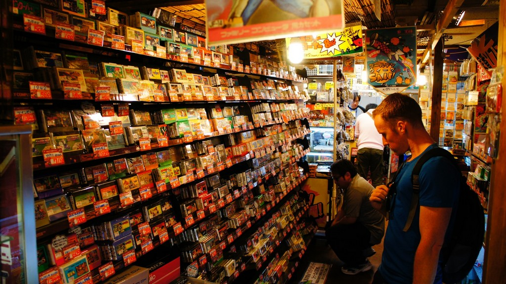 A tourists is choosing his favourite product. Here they are allowed to bargain for a better deal Photo: consoletrader