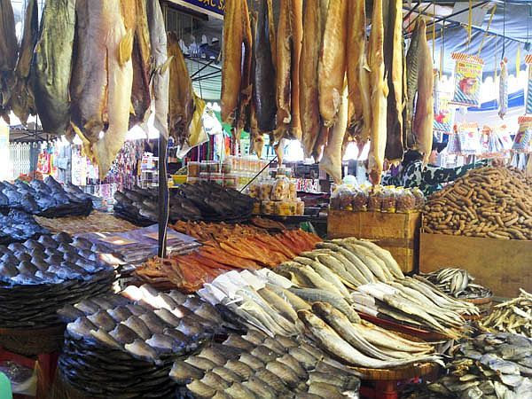 dried fish An Giang Cahu Doc market vietnam travel guide