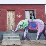Amazing elephant street artwork in South African villages to give individuals hope