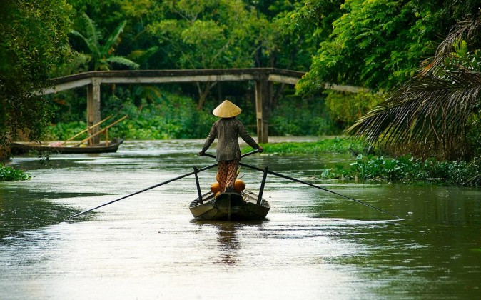 Peaceful feeling of the Mekong Delta. Photo: wildernesstravel.com