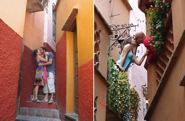 A Mexican Romeo-and-Juliet-esque legend has given this super-narrow alleyway a reputation for romance Photo: ngoisao.net