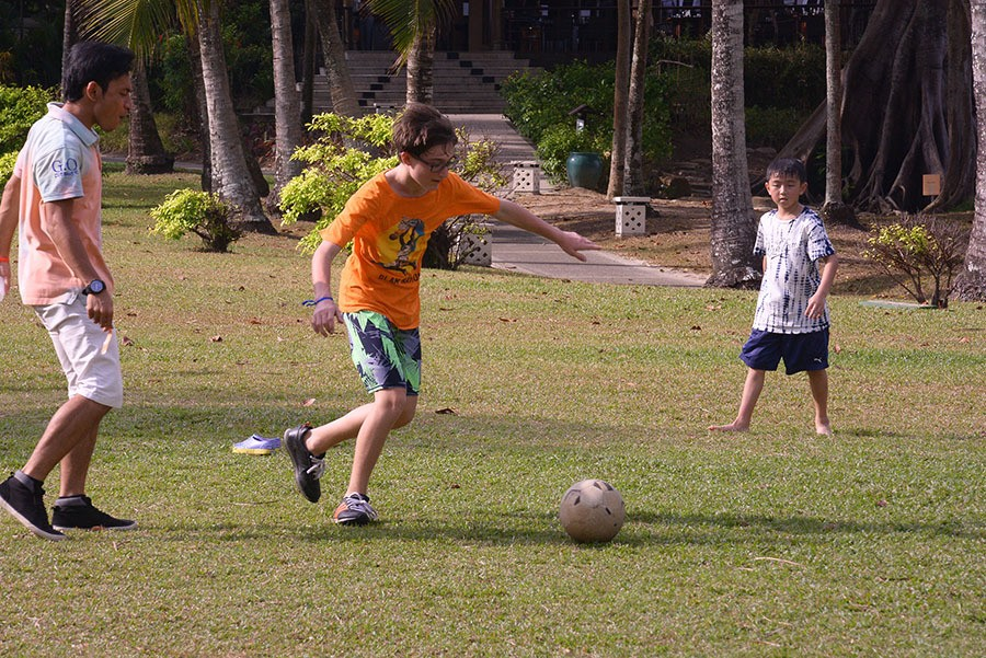 play soccer at club med bintan resort indonesia things to do