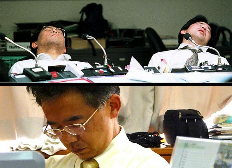 sleeping on job japan weird things