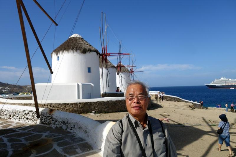 windmill mykonos-greece tourist destination