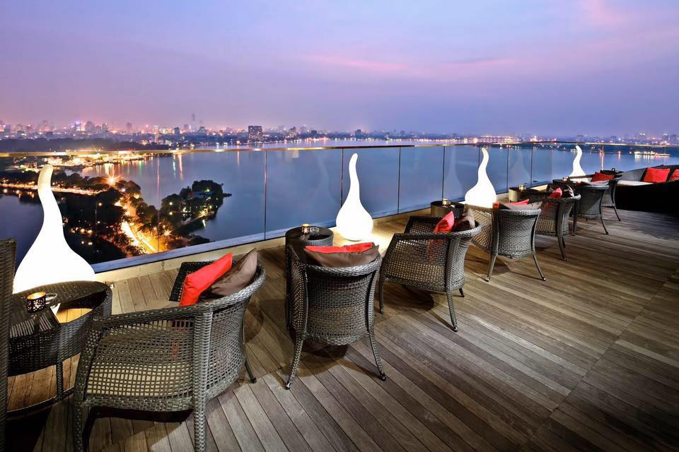 Rooftop bar Summit Lounge at Pan Pacific Hanoi