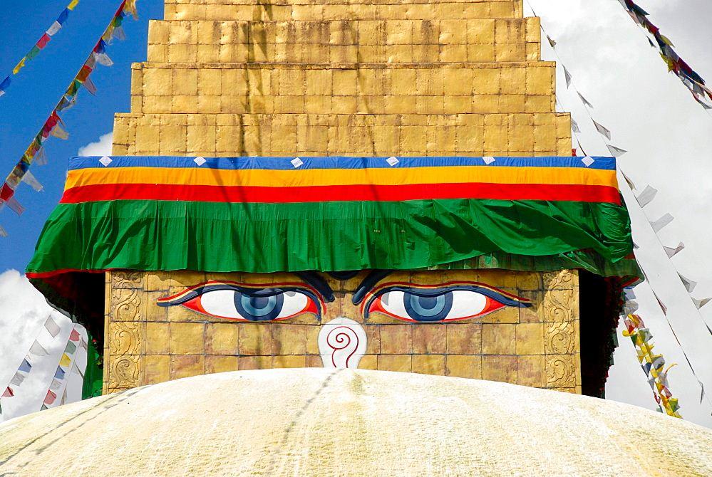 Boudhanath Boudha's Eyes on the Stupa in Kathmandu