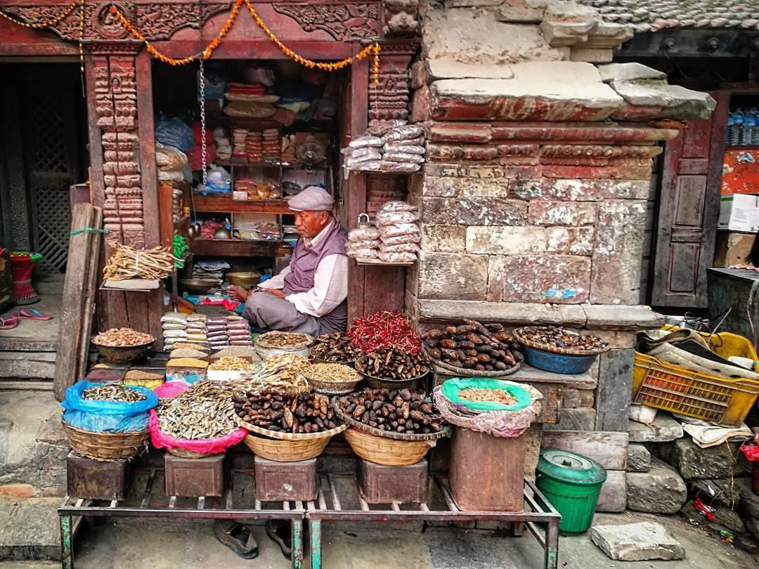Local vendors in Kathmandu