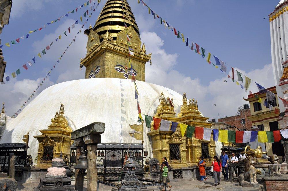 Starting early, we will visit the Buddhist temple and UNESCO World Heritage Site of Swayambhunath.