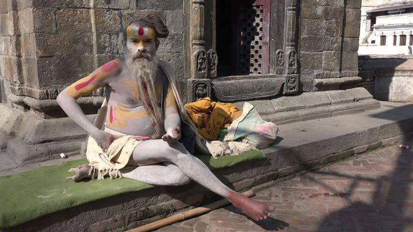 An unidentified 'sadhu', or holy