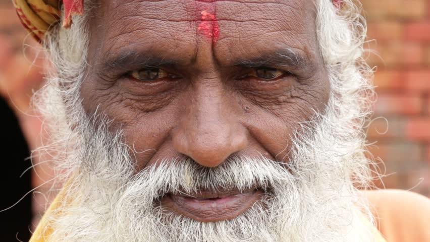 Portrait of Shaiva sadhu, holy man