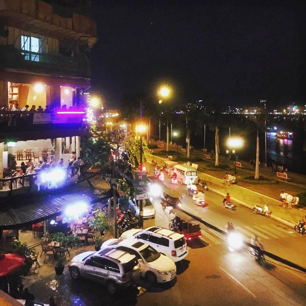 Sisowath Quay Phnom Penh cambodia