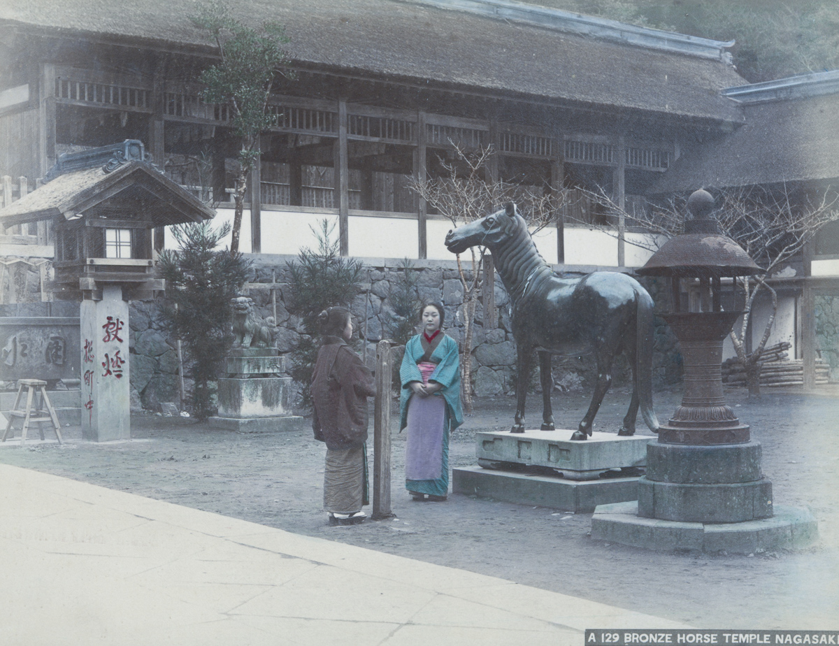 Bronze Horse Temple Nagasaki - Image by New York Public Library