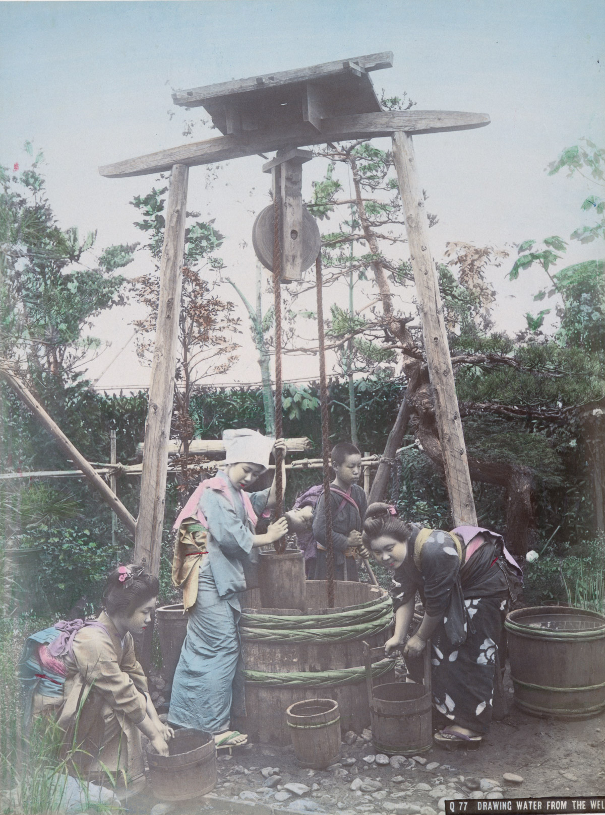 Drawing Water from the Well - Image by New York Public Library