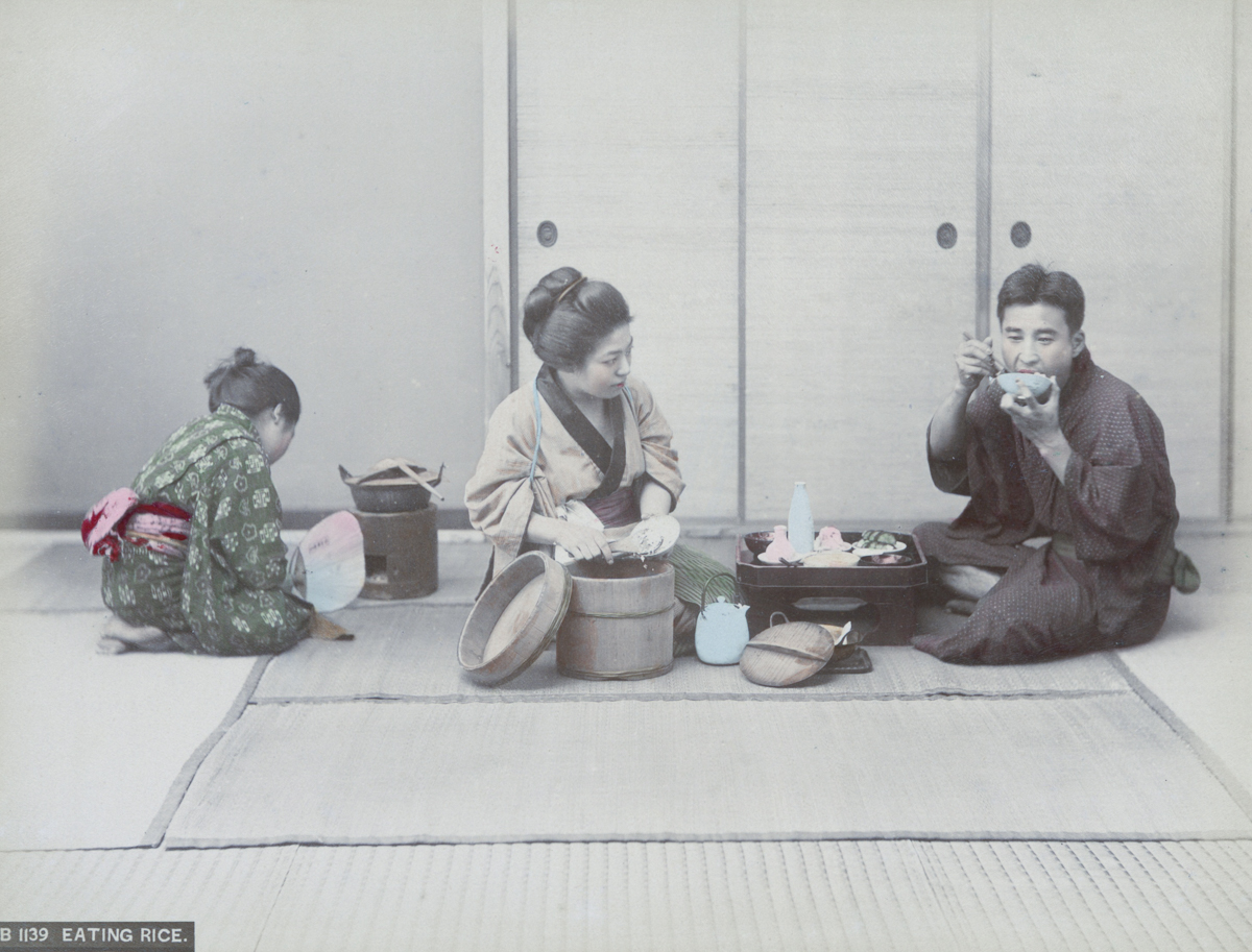 Eating Rice - Image by New York Public Library