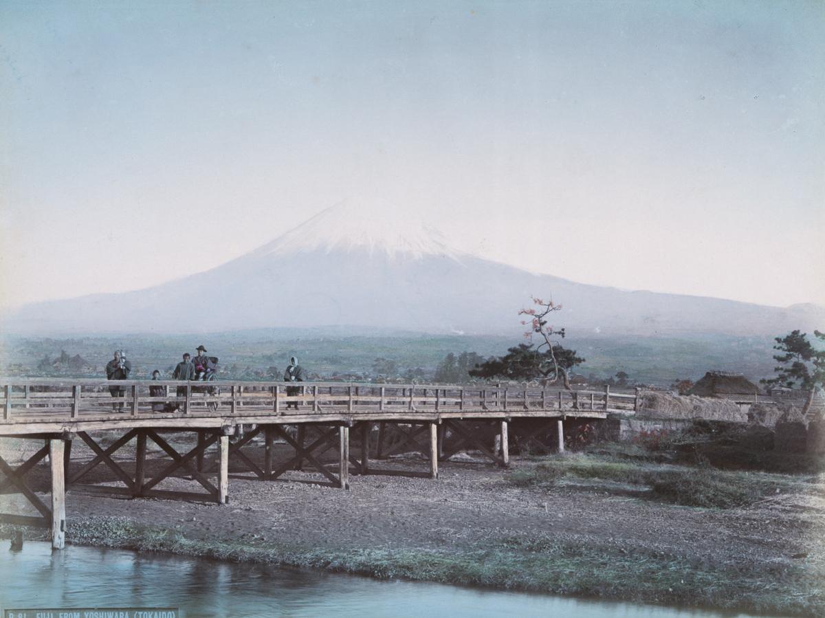 Fuji from Yoshiwara (Tokaido) - Image by New York Public Library