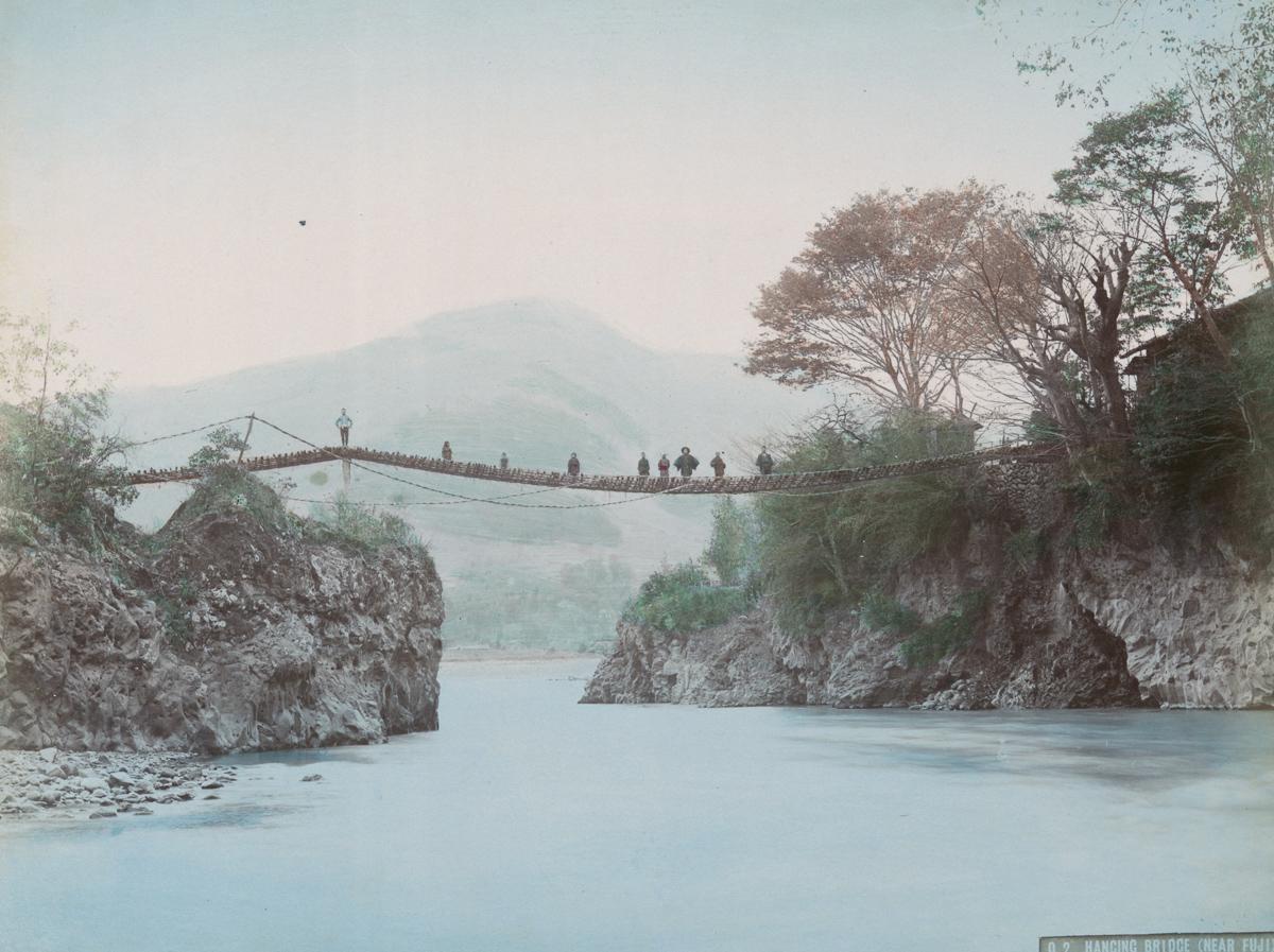 Hancing Bridge (Near Fuji) - Image by New York Public Library