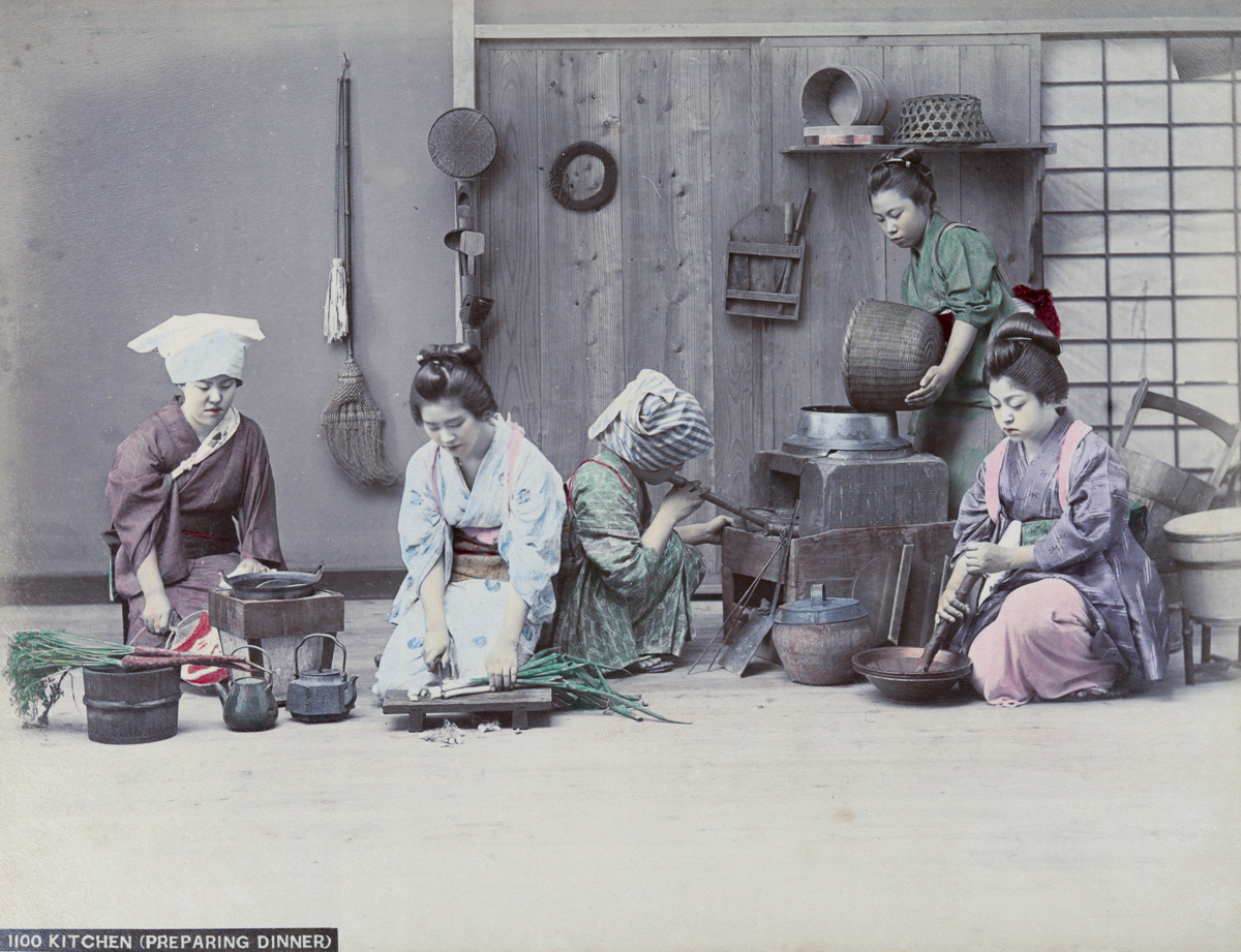 Kitchen (preparing dinner) - Image by New York Public Library
