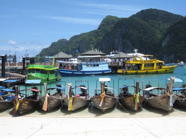 Koh Phi Phi island thailand boats