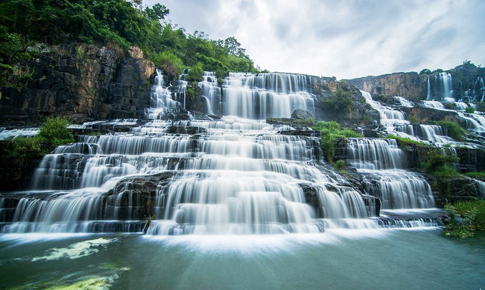 Pongour waterfall central highlands vietnam