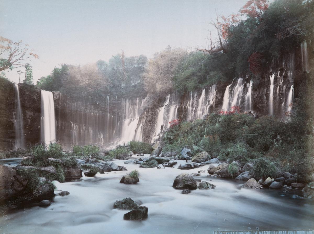 Shiraitono-Taki (A Waterfall) near Fuji Mountain - Image by New York Public Library