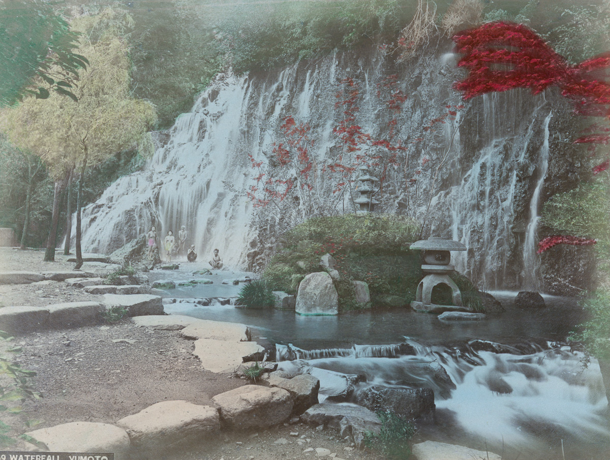 Waterfall, Yumoto - Image by New York Public Library