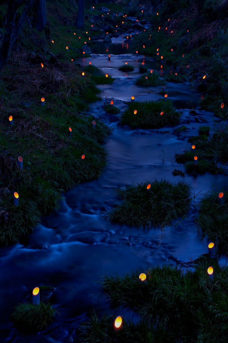 Bamboo Light Festival In Taketa, Ōita amazing-places-japan