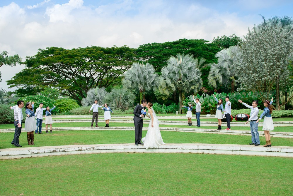 Hortpark singapore wedding