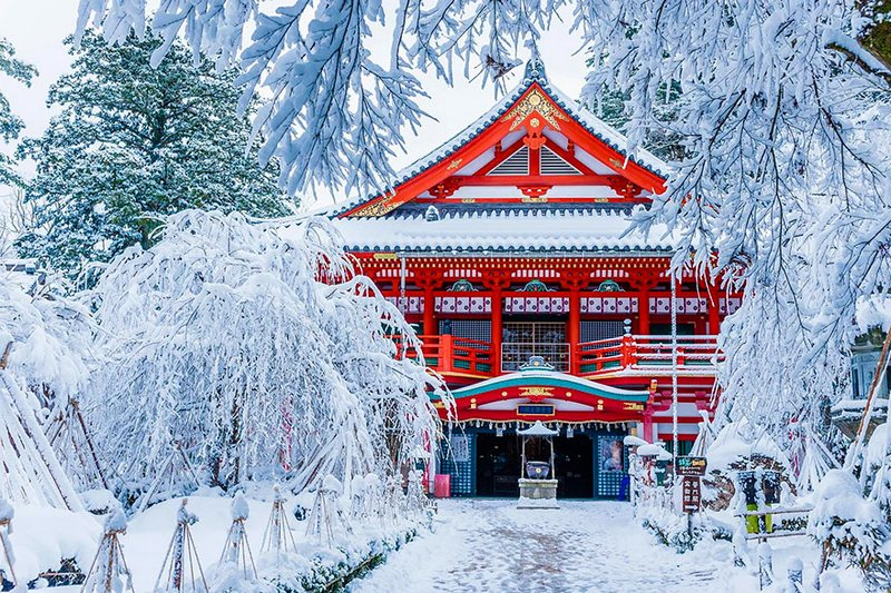 Natadera Temple In Winter amazing-places-japan