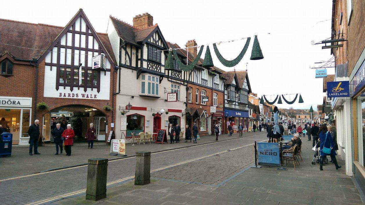 Stratford-upon-Avon town england