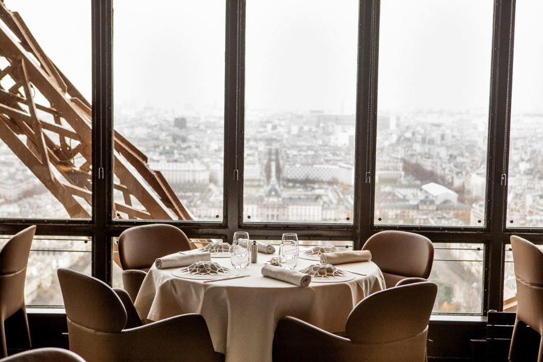 dining at eiffel tower paris 2