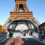15+ interesting photos revealed then and now of Paris