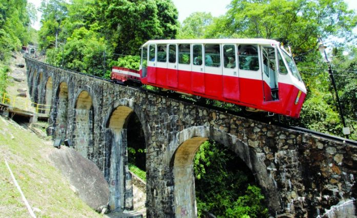 Take a ride up the Penang hill in this historic funicular train.