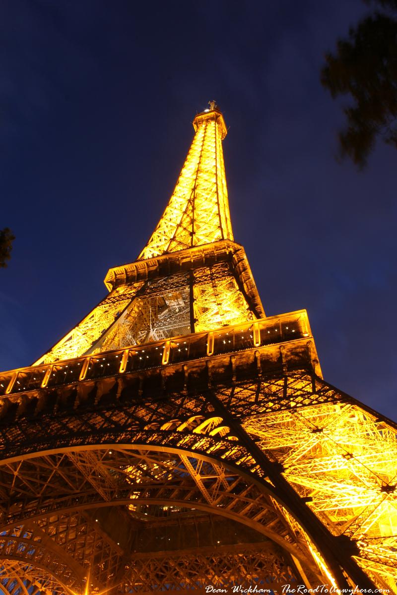 stairs eiffel tower paris Eiffel-Tower-Night-Close