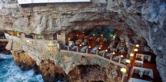 stunning photos of italian-cave-restaurant-grotta-palazzese-polignano-mare 1