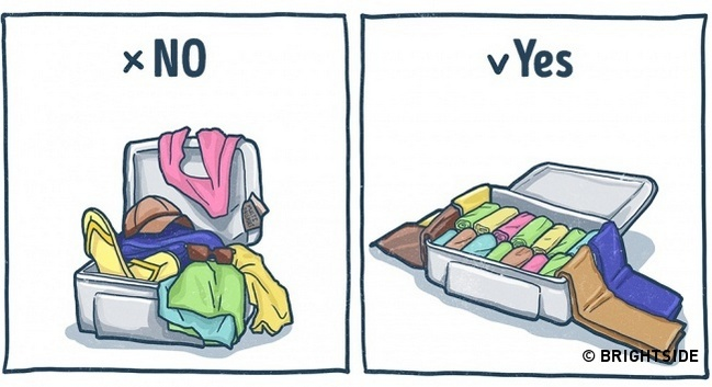 10 excellent tips for packing your holiday suitcase with illustrated 9