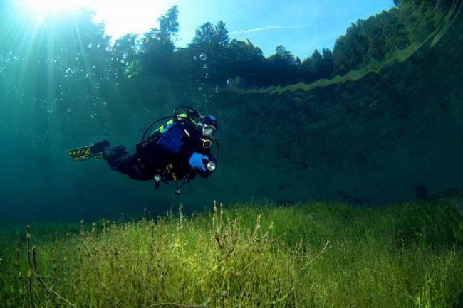 Lake Sameranger with beautiful clear water. Tyrol, Austria