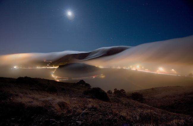 Fog over San Francisco, USA