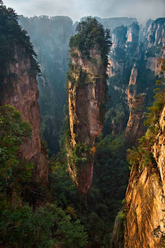 Zhangjiajie National Park, China. All the sketches for the landscapes of Pandora for the movie 'Avatar' were made here