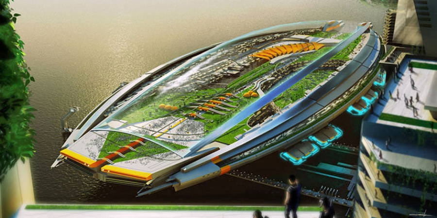 A giant city ship
