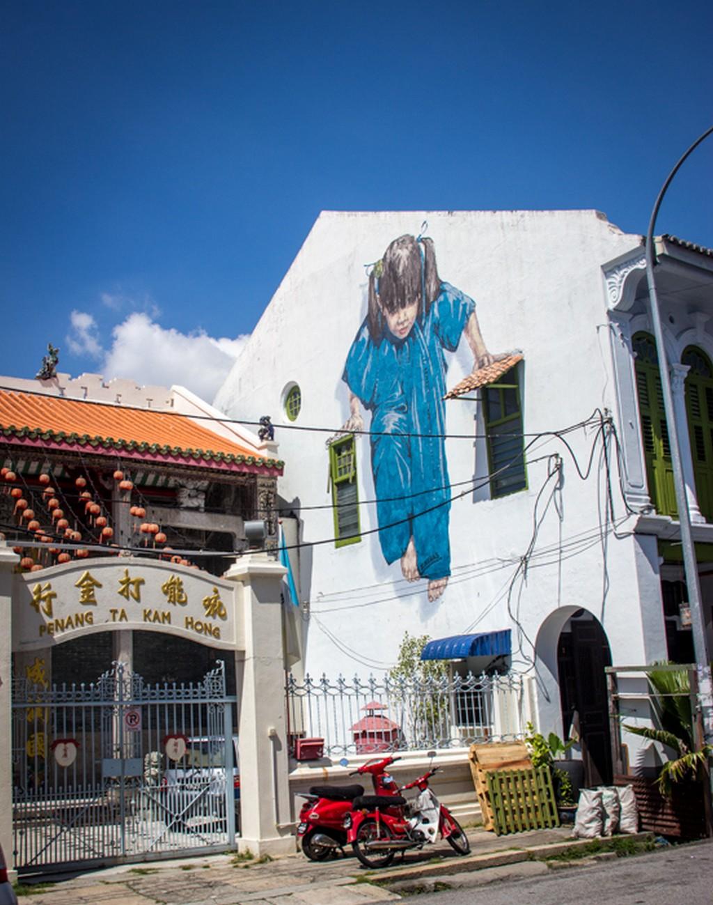 Street wall art, George town, Penang, Malaysia