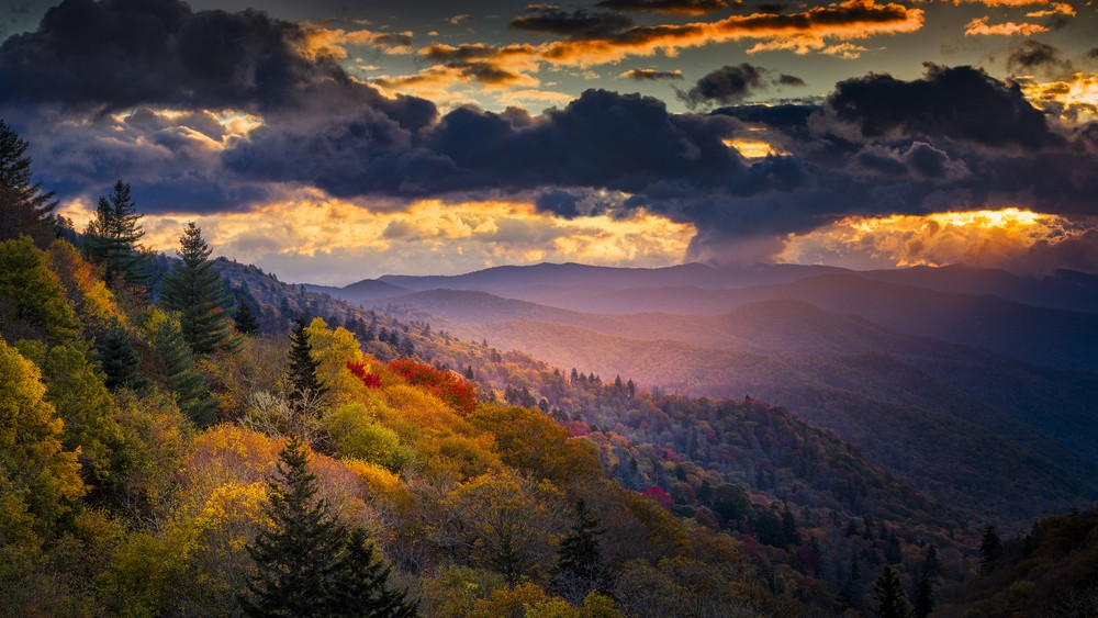 Great Smoky Mountains at Dawn, US national parks